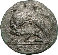 CONSTANTINE I the GREAT Romulus Remus Silvered Ancient Roman Coin WOLF i24793