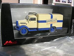 "SCHUCO 1/43 CAMION BORGWARD B 2500 CAISSE ""sanella"" !!!!"