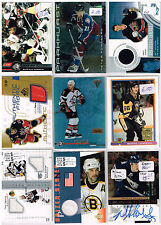 HUGE Lot Of 2001-02 Autos - Game Used - Rookies - Parallels - Inserts - Base