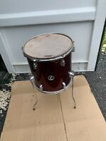 "Free P&P. 14"" Sonor Floor Tom w Legs. Wine Finish. 14x14"" FT009114"