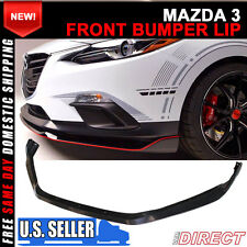 Fit For 14-16 Mazda 3 4Dr / 5Dr Front Bumper Lip Spoiler - ABS