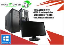 Green GAMING Komplettsystem | Intel Core i7, 16GB RAM | AMD Radeon HD7870