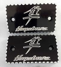 99-17 Hayabusa Black/Silver Ball Cut Brake/Clutch Mastercylinder Reservoir Caps!