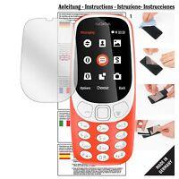 6x Schutzfolie für Nokia 3310 Folie Displayschutzfolie klar Displayfolie