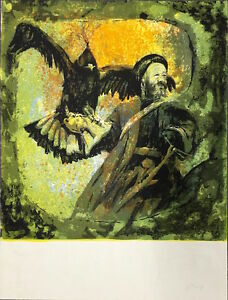 "Dennis Curry ""Hunters"" Original Silkscreen Print Hand S/N 95/100"