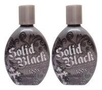 LOT 2 MILLENNIUM SOLID BLACK 100X DARK TANNING LOTION 13.5 OZ