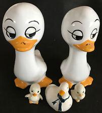 5 süße Porzellan Figuren Enten Gans (Salzstreuer) Vögel DEKO