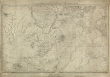 Antique Topographical Map of S.W. Colorado, New Mexico, Arizona, and Utah, 1877