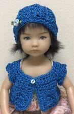 "Crochet ""Royal "" Sweater & Hat ~Effner Little Darling Or Similar 13-14"" Dolls"