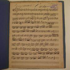 Haydn Sinfonia 13, Viola parte, Antico Manoscritto Musica #3