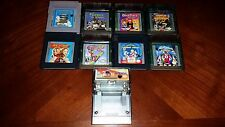 Nintendo Gameboy Color & Gameboy Lot Of 9 Tomb Raider, Gex 3 & More!