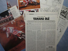 MOTOSPRINT986-PROVA / TEST-1986- YAMAHA CROSS 1987 - 5 fogli