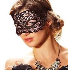 Pizzo Nero Sexy Profondo Maschera/velo Catwoman bondage Night Club Belly Dance Nuovo