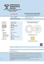 DIAMANT 0.46ct Brillant SI2 Light Grey Yellow IGI
