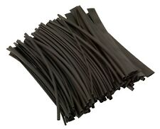 100pc Sealey 200mm Heat Shrink Tubing Tube Sleeving Black 3.2mm-127mm Pack