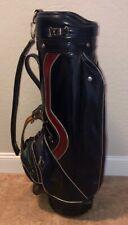 Vtg Titleist Navy Blue Faux Leather Single Strap 6-Way Golf Bag Broken Zipper