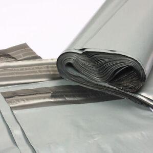 Grey mailing poly bags postage postal parcel economy post envelopes