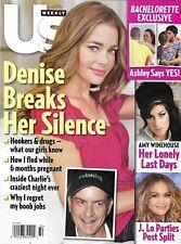Us Weekly Magazine Denise Richards Charlie Sheen Amy Winehouse Bachelorette 2011
