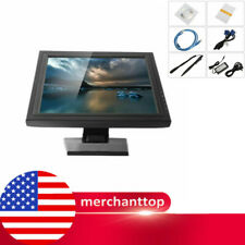 """17"""" LCD TouchScreen Monitor USB POS Stand for Retail VOD System Hotel Restaurant"""