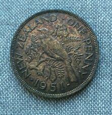 Nouvelle-Zélande 1 Penny 1951 Bronze   [1390]