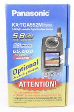 Panasonic KX-TGA552M 5.8 GHz Platinum Expandable Digital Cordless Handset Phone