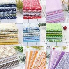 7PC 50*50cm Cotton Fabric Material Bundle Scraps Offcuts DIY Quilting FSewHOT