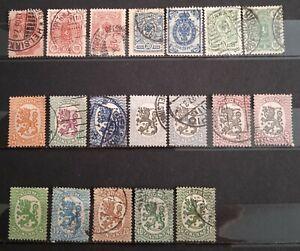 Lot intéressant Finlande timbres oblitérés