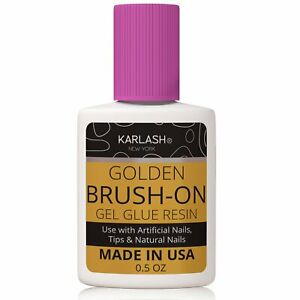 Karlash Acrylic Nail System Golden BRUSH ON gel glue resin 0.5 oz.