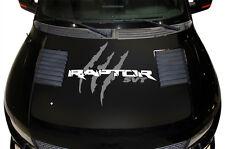 Vinyl Decal Raptor Hood Wrap for F-150 Raptor SVT 10-14 Truck BLACK GRAY Tears