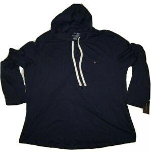 NWT Tommy Hilfiger Men's Lounge Pullover Hoodie Dark Navy Blue Size 2XL