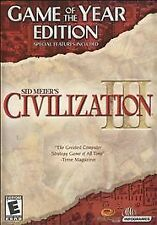Sid Meier's Civilization 3 III: Game of the Year GOTY Edition (PC, 2002)