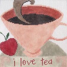 Tea Hand Painted Needlepoint Canvas