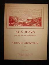 Sun Rays Sheet Music Vintage 1930 Richard Krentzlin Piano Solo Pianoforte (O)