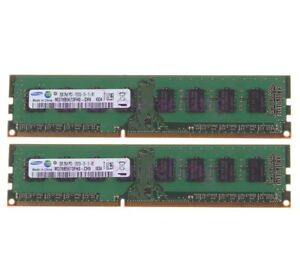 4GB Samsung 2X 2GB PC3-10600 DDR3 1333MHz 240pin UDIMM Desktop Memory For Intel