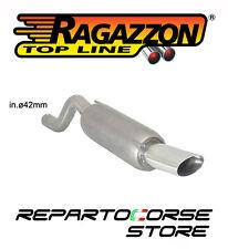 RAGAZZON SCARICO TERMINALE OVALE 110x65mm OPEL CORSA D 1.2 80Cv 2006>2011
