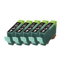 5 BLACK Premium Ink + Chip for Canon Series CLI-221 MP640 MX860 MX870 MP980 990