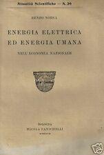 ENERGIA ELETTRICA_ENERGIA UMANA_ECONOMIA NAZIONALE_NORSA_D'EPOCA_1928