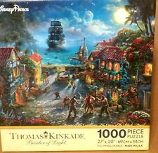 Disney Parks Thomas Kinkade Pirates of Caribbean Black Pearl 1000 piece Puzzle