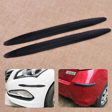 2pcs Black Rubber Rear Car Bumper Protector Guard Corner Scratch Sticker Strip