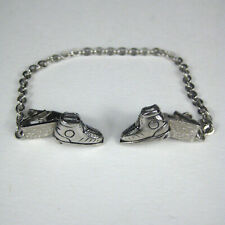 Shoes Sneakers Scarf Clip Silvertone 1 Inch Fur Scarf Pin Jewelry Womens