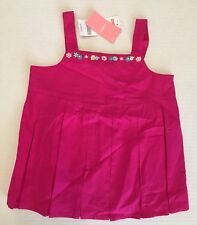NWT Gymboree Candy Apple Size 6 Fuchsia Pleated Flower Top