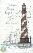 Cross Stitch Kit ~ Historic Lighthouse White Shoal Light, MI #HD257 OOP SALE!
