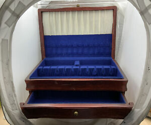 Wooden Silverware Storage Box