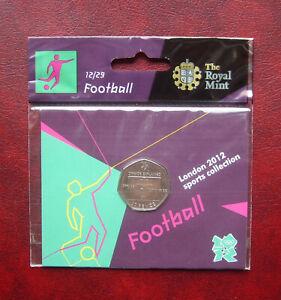 UK 2012 London Olympics football offiside rule 50 pence coin