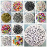 NEW 100pcs Mixed Alphabet/Letter Number Acrylic Cube Beads 4x7mm 6x6mm 7x7mm U