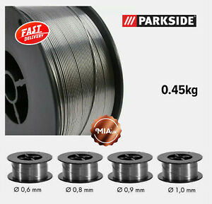 Gasless Welding Wire Flux Cored 0.6/0.8/0.9/1.0mm 0.45kg for Parkside/Mauk/Deca