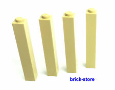 LEGO®   1x1x5 Säule / Pfosten /  Pfeiler / Gittermast beige / 4 Stück