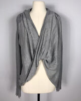 Lululemon Activewear Heathered Gray Long Sleeve Iconic Sweater Wrap Women's 6?