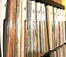 "A - Z Vertical Record Dividers w/ Lettering on Both Sides Index 12"" 33 LPs Vinyl"