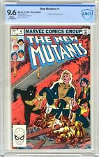 New Mutants  #4  CBCS   9.6   NM+   White pgs   6/83 Professor X & Lilandra App.